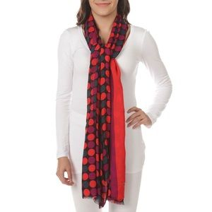 Kate spade dance floor dotted scarf